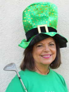 Jennifer in her St. Patrick's Day garb