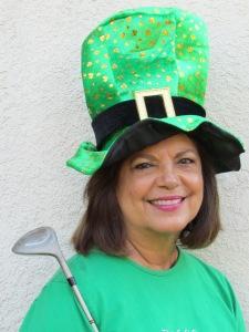Jennifer in her St. Patrick's Day garb