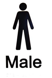 male bathroom icon